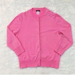 Like New Pink J. Crew Cardigan Sweater